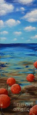 Painting - Beach Buoys by Holly Donohoe