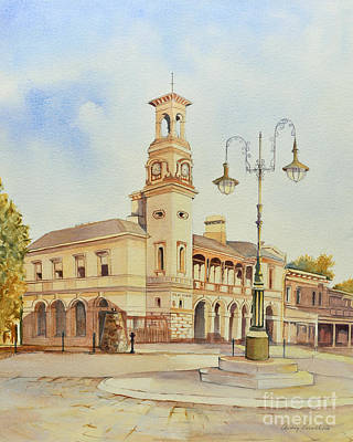 Beechworth Painting - Beechworth Post Office Victoria Australia by Audrey Russill