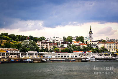 Belgrade Cityscape On Danube Art Print