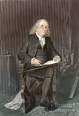 Benjamin Franklin, American Polymath Print by New York Public Library