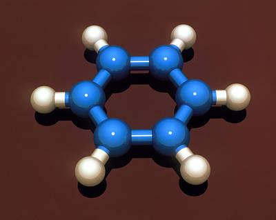 Benzene Molecule Art Print