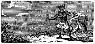 Bewick: Devil Art Print by Granger