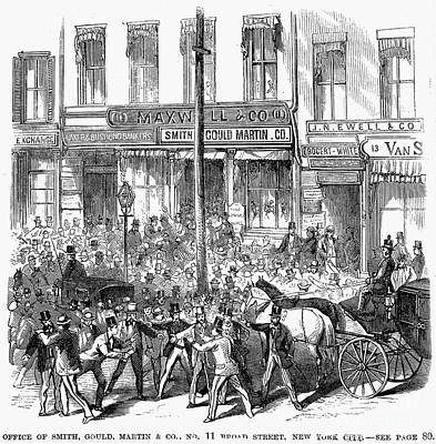 Bank Panic Photograph - Black Friday, 1869 by Granger