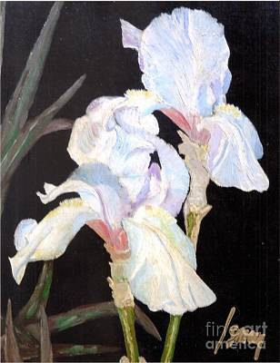Art Print featuring the painting Blue Iris by Rod Ismay