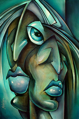 Urban Expressions Painting - 'blue' by Michael Lang