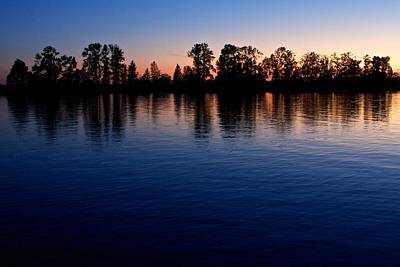 Art Print featuring the photograph Blue Sunset by Scott Holmes