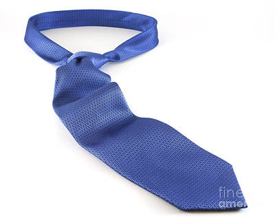 Fathers Office Photograph - Blue Tie by Blink Images
