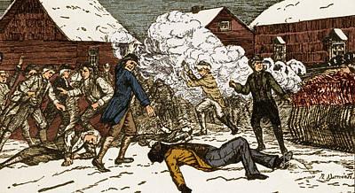 Boston Massacre, 1770 Art Print by Photo Researchers