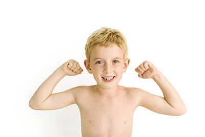 Child Boy Nude Photograph - Boy Posing by Ian Boddy
