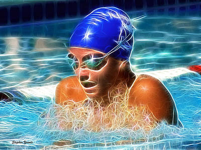 Digital Art - Breaststroke by Stephen Younts