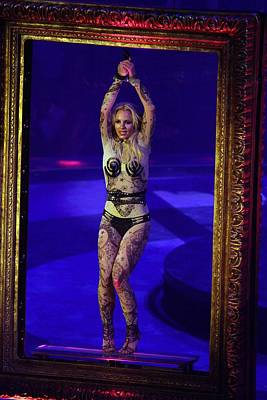 Britney Spears On Stage For The Circus Art Print by Everett