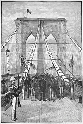 Photograph - Brooklyn Bridge Opening by Granger