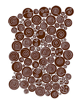Its A Piece Of Cake - Brown Abstract by Frank Tschakert