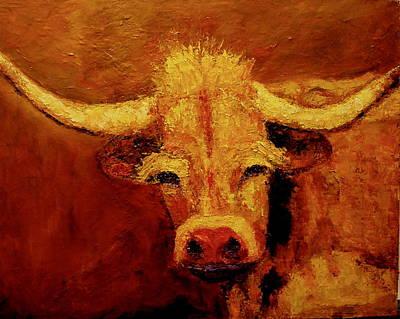 Bull Art Print by Marie Hamby