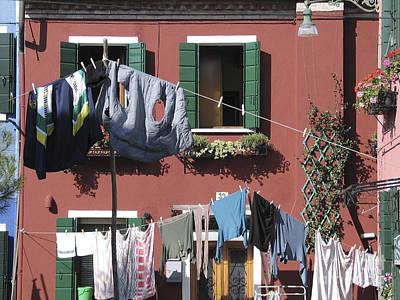 Burano. Venice Art Print by Bernard Jaubert