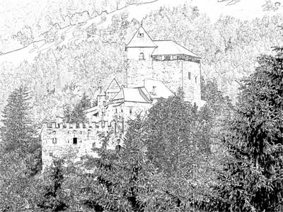 Burg Reifenstein Sterzing Italy Art Print by Joseph Hendrix
