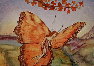 Art Print featuring the painting Butterfly by Teresa Beyer