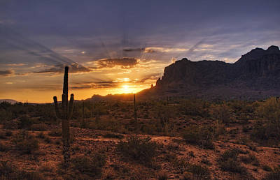 The Superstitions Photograph - By Dawn's Early Light by Saija  Lehtonen