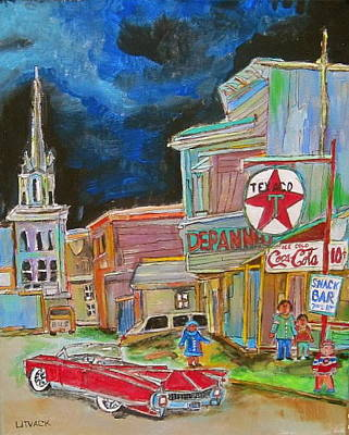 Texaco Sign Painting - Cadillac In Hawkesbury by Michael Litvack
