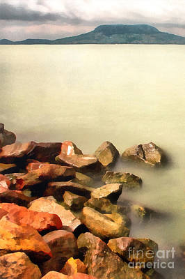 Water Filter Painting - Calm by Odon Czintos