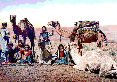 Camel Caravans Mixed Media - Camel Caravan by Charles Shoup