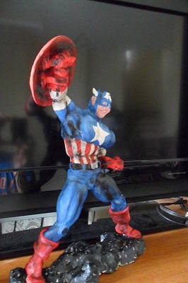 Sculpture - Captain America by Luis Carlos A