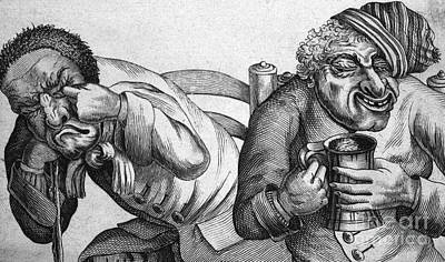 Cartoonish  - Caricature Of Two Alcoholics, 1773 by Science Source