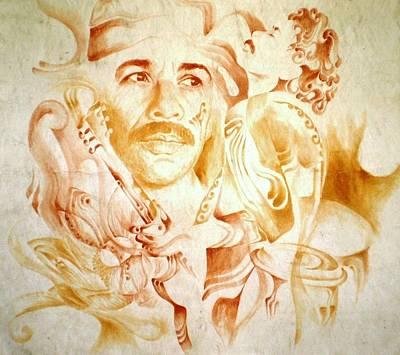 Carlos Santana Painting - Carlos Santana by Jaabi Faarai