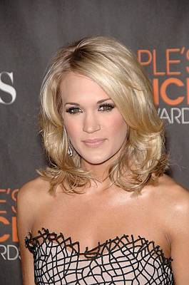 Carrie Underwood At Arrivals Art Print by Everett