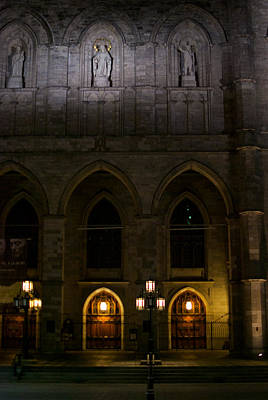 Montreal Streets Photograph - Cathedral De Notre Dame by Mike Horvath