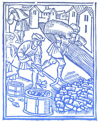 Charcoal Burners, Medieval Tradesmen Art Print