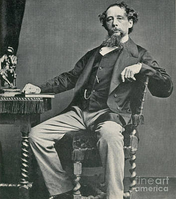 Photograph - Charles Dickens, English Author by Photo Researchers
