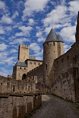 Chateau Comtal Of Carcassonne Fortress Art Print by Evgeny Prokofyev