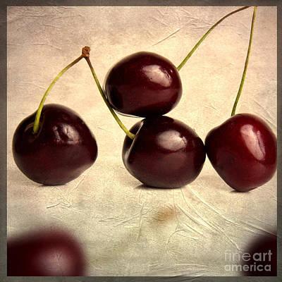 Foodstill Photograph - Cherries by Bernard Jaubert