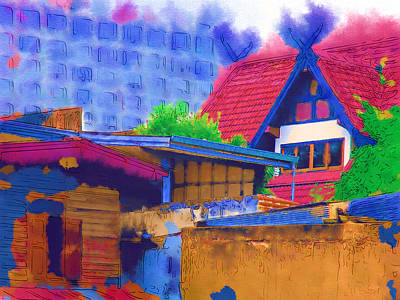 Digital Art - Chiang Mai House by Fran Woods
