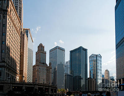Chicago City Center Art Print by Carol Ailles