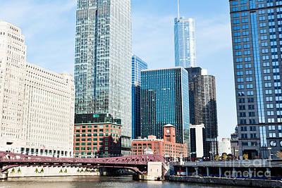 Chicago River Skyline Art Print by Paul Velgos