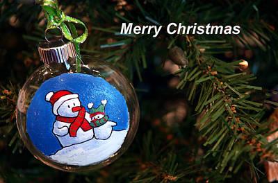 Wreath Photograph - Christmas Card by LeeAnn McLaneGoetz McLaneGoetzStudioLLCcom