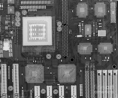 Mother Board Photograph - Circuit Board by Ted Kinsman