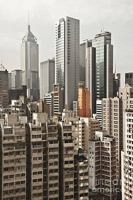 City Skyline Art Print by Jacobs Stock Photography