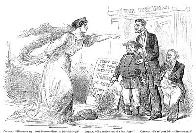 Accused Photograph - Civil War Cartoon by Granger