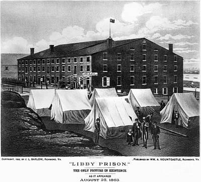 Civil War: Libby Prison Print by Granger