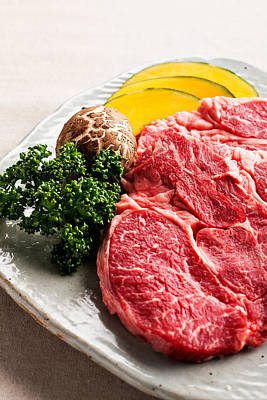 Photograph - Close-up, Meat And Vegetables by Multi-bits