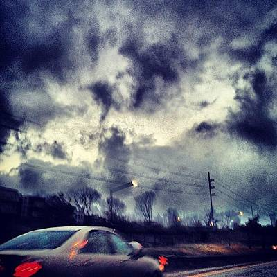 Skylines Wall Art - Photograph - #cloudporncentral #sky  #sun  #nature by In Between  Poses