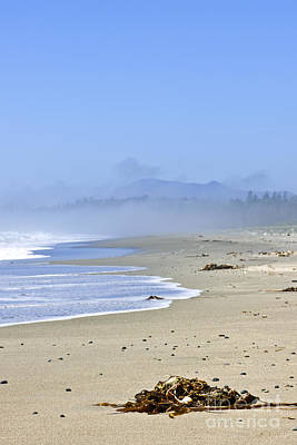 Coast Of Pacific Ocean In Canada Art Print