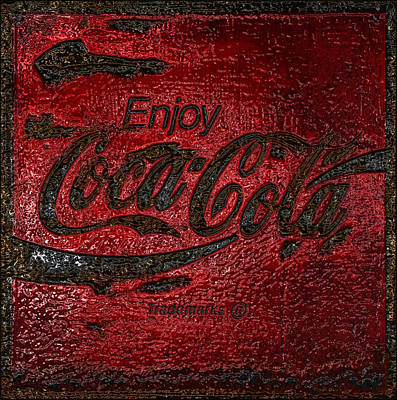 Old Coke Sign Wall Art - Photograph - Coca Cola Classic Vintage Rusty Sign by John Stephens
