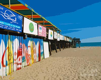 Priska Wettstein Land Shapes Series - Cocoa Beach Pier Florida by Allan  Hughes