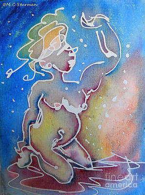 Colorful Abstract Nude Art Print by M c Sturman