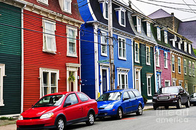 Photograph - Colorful Houses In St. John's by Elena Elisseeva