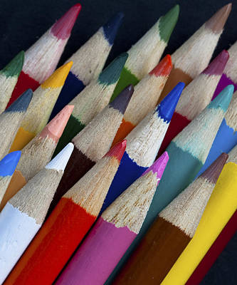 Photograph - Coloured Pencils by Zoe Ferrie